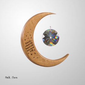 Medium Personalised Suncatcher Moon Image